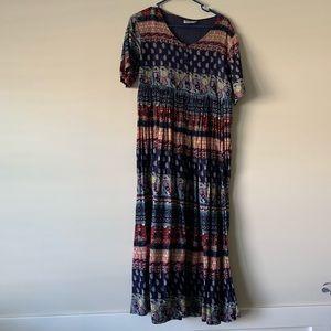 Vintage boho peasant maxi dress